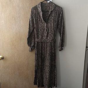 Vintage 1980s collared shirtdress